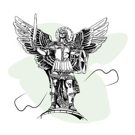 angel de la independencia: Monumento al Arcángel Miguel en Kiev