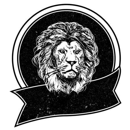 Black and white Leo logos template. Vector illustration. Illustration