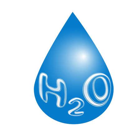 H2O Wassertropfensymbol. Vektor-Konzept-Illustration für Design. Standard-Bild - 81348674