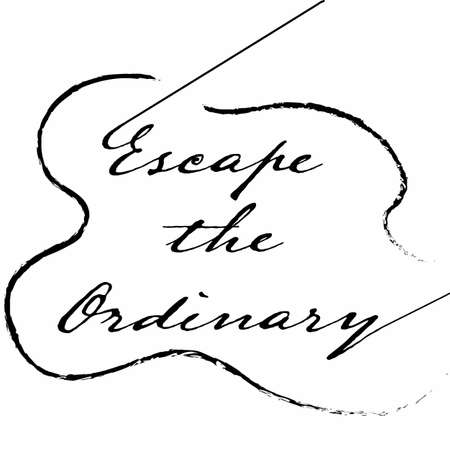 Escape the ordinary. Fashion Slogan with line for T-shirt. Calligraphy vector. 向量圖像