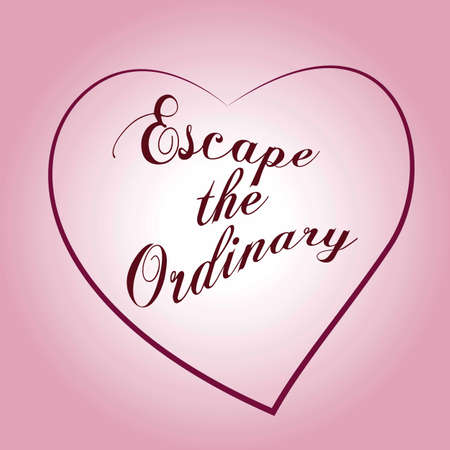 Escape the ordinary. Fashion Slogan with line for T-shirt. Calligraphy vector. Vectores