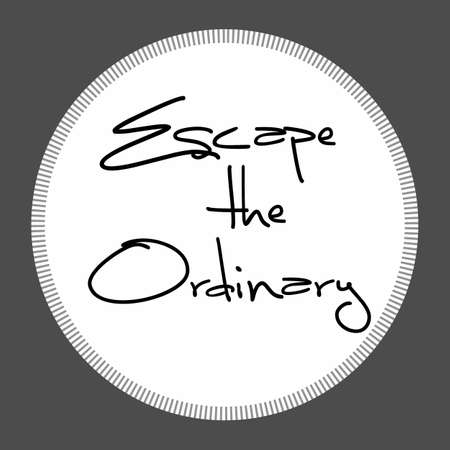 Escape the ordinary. Fashion Slogan with line for T-shirt. Calligraphy vector. Illustration