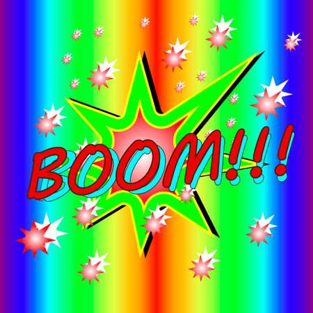 Type slogan Boom and star heart.