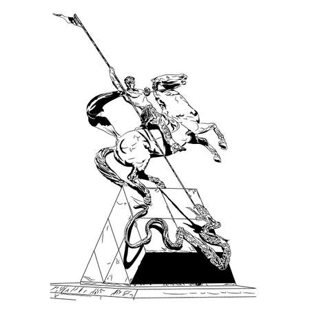 A monument to St. George the Serpen, Ukraine. Vectores