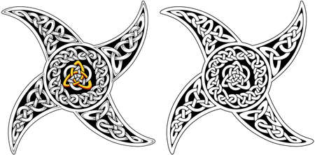 Celtic symbols icons vector. Ð•ndless basket weave knots used for decoration or tattoos.