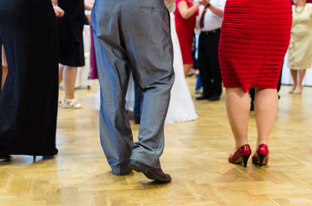 dress suit: People dancing on wedding day