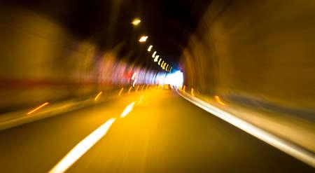 Inside tunel blur abstract scene