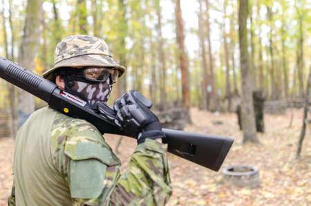 숲에 군대 군인 스톡 콘텐츠