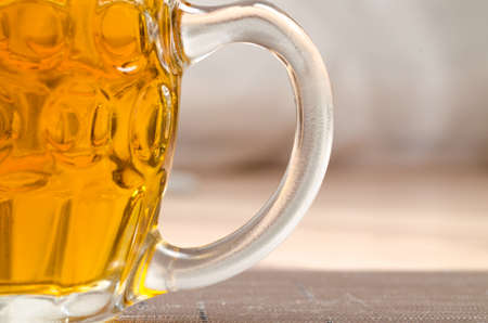 brewery: Czech beer glass on wood desk