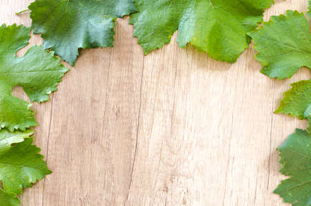 Wine grapes on wooden table