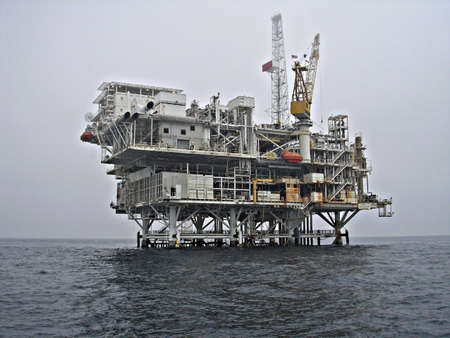 oil rig platform at sea