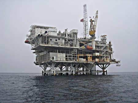 oil rig platform at sea