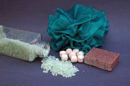 calming: Spa products Stock Photo