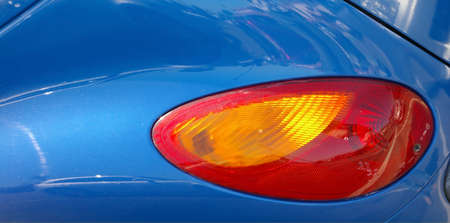 Tail light of a car.