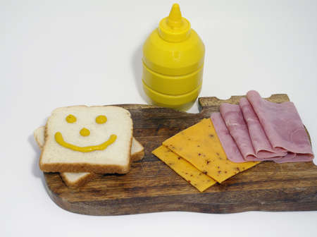 Jamón y queso sandwich  Foto de archivo - 2557338