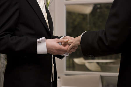 gay marriage: Mr & Mr Stock Photo
