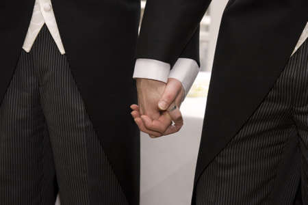 gay couple: Holding Hands