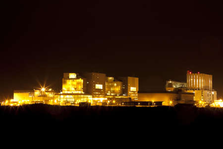 dungeness: Dungeness nuclear powerstation in Kent by night.