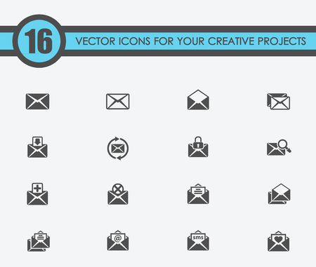 mail vector icons for your creative ideas