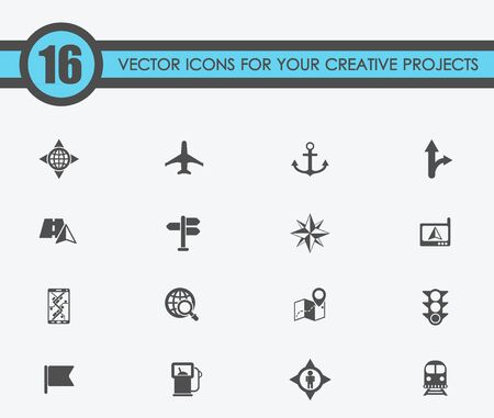 Navigation vector icons for your creative ideas Иллюстрация