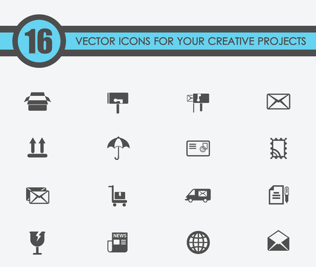 Post service vector icons for your creative ideas