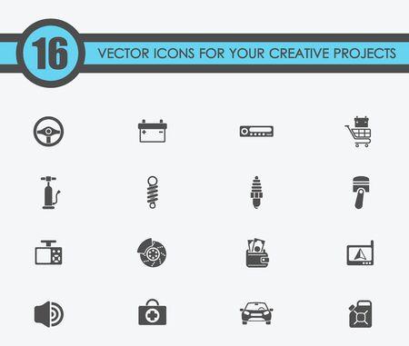 Auto winkel vector pictogrammen vlakke afbeelding voor uw creatieve ideeën