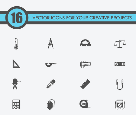 Illustration of measuring tools vector icons for your creative ideas Illustration
