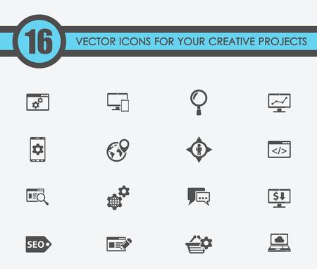 illustratie van seo vector iconen voor uw creatieve ideeën Vector Illustratie