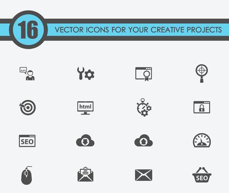 seo vectorpictogrammen voor uw creatieve ideeën
