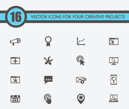 Illustration of seo vector icons for your creative ideas