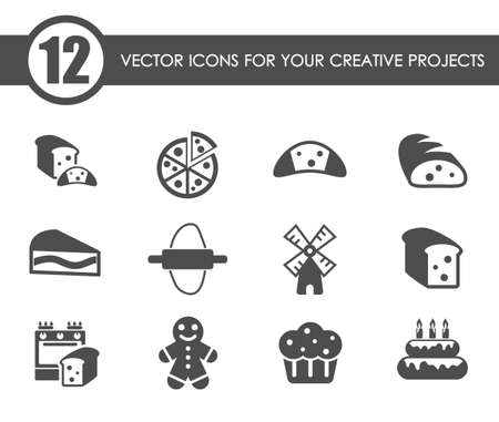 bakery vector icons Vecteurs