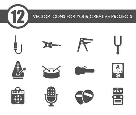 musical shop vector icons Vektorgrafik