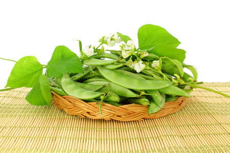 dolichos lablab: valor papdi beans with plant part Stock Photo