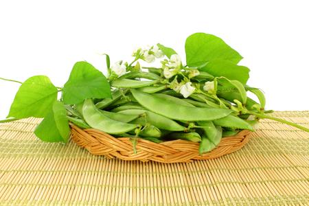 valor papdi beans with plant part Stock Photo