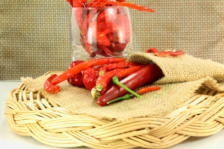 red chili pepper: red chili pepper dry and fresh
