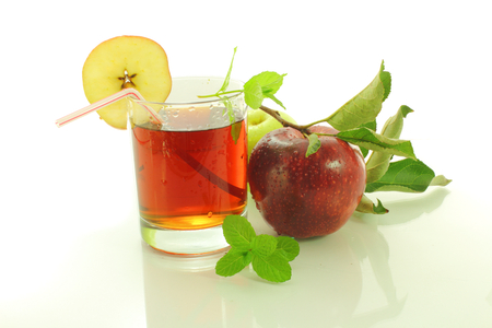 apple juice in white background