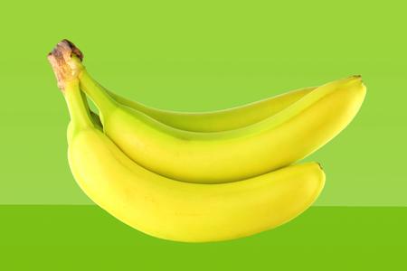 banaan op groene achtergrond