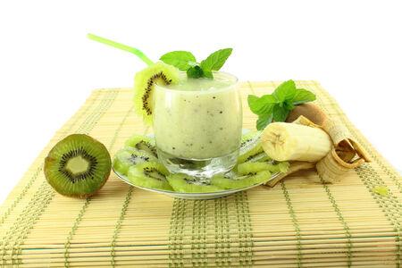 kiwi en banaan milkshake