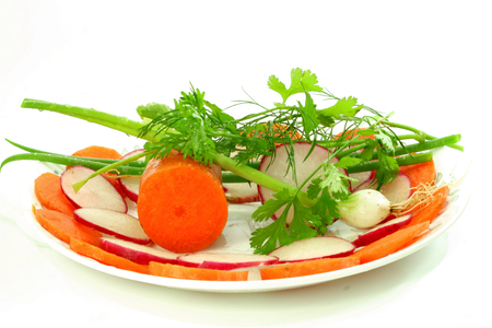 cures: carrot red radish onion salad with herbs
