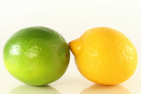 green and yellow lemon in closeup Stock Photo - 24770253