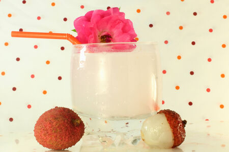 lychee juice:  lychee juice closeup Stock Photo