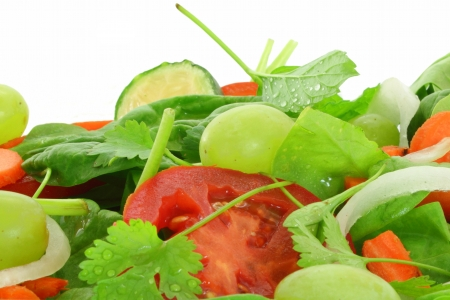 fresh salad vegetable closeup Standard-Bild