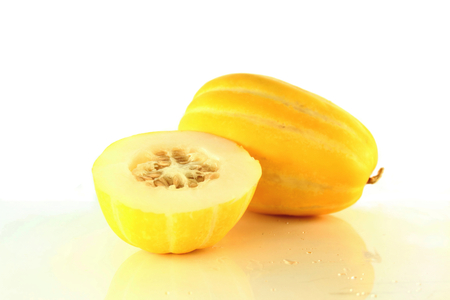 yellow korean melon fruit
