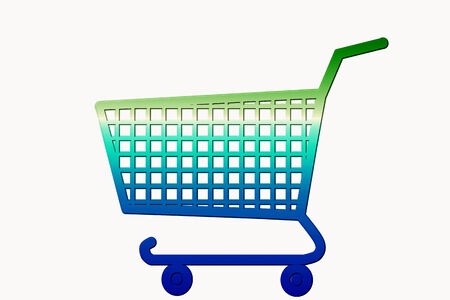 multi color shopping cart  photo