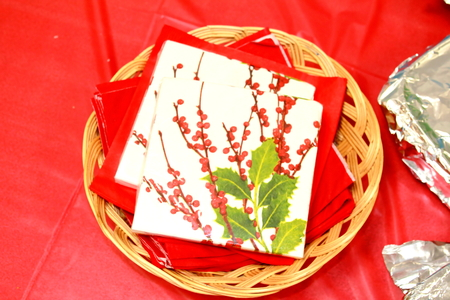 paper napkins for christmas holiday celebration party photo