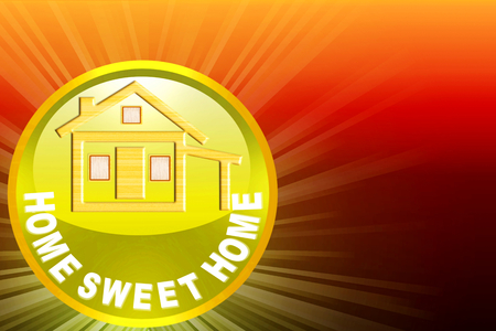 home sweet home icon design for home related business photo