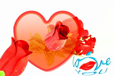 heart roses lips and i love you icon design for love showing photo