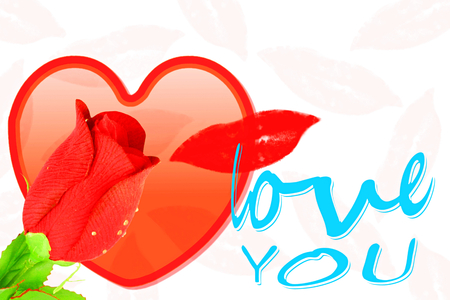 heart roses lips and i love you icon design for love showing