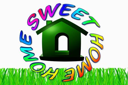 home sweet home icon design photo