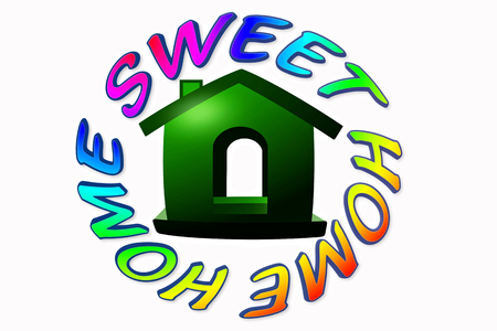 home sweet home icon design photo